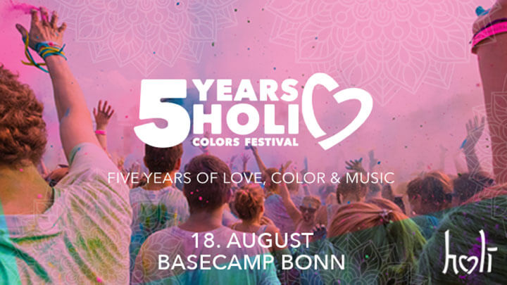 Holi Colors Festival - 5 years 2018